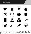Halloween icons.  43694454