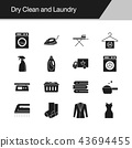 Dry Clean and Laundry icons.  43694455