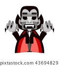 dracula cartoon character 43694829