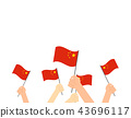 hands holding China flags  43696117