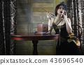 Beautiful 1930s girl smokes 43696540