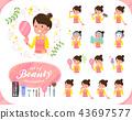 flat type Ballet Bun hair Apron mom_beauty 43697577