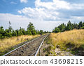 Countryside railroad in a rural environment 43698215