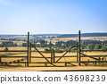 Wooden gate at a ranch 43698239