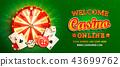 Welcome online casino banner. 43699762