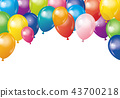 다채로운 풍선이 모인 배경 일러스트 | 흰색 배경 Balloon illustration 43700218