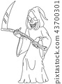 outlined grim reaper 43700301