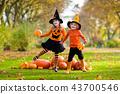 halloween, kids, pumpkin 43700546
