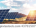 solar panels on the sky background 43701507