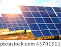 solar panels on the sky background 43701511