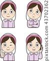 面部表情 表情 成熟的女人 43702362