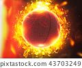 地球儀 球 球體 43703249