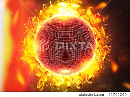 發光的抽象球體 43703249