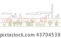 Street map line drawing Asakusa 43704539
