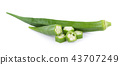 fresh okra isolated on white background 43707249