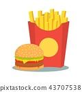 汉堡 土豆 马铃薯 43707538