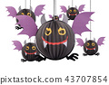 Devil bat hanging mobile for halloween decoration. 43707854