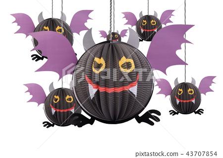 Devil bat hanging mobile for halloween decoration. 43707854