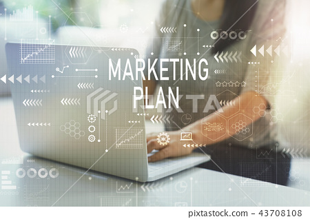 Marketing plan with woman 43708108