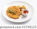 typical austrian viennese Schnitzel 43708125