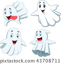 Cartoon funny ghost collection set 43708711