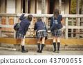 高中女生在動物園玩 43709655