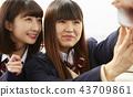 朋友 伙伴 高中女生 43709861