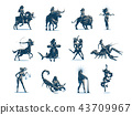 Zodiac signs. Vector illustration. 43709967
