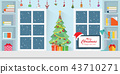 Interior workplace on Christmas. 43710271