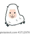 十二生肖羊的性格。跑在井附近的綿羊的例證。 43712976
