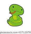 黃道帶蛇的性格。獲取與Belo的樂趣蛇的例證。 43712978