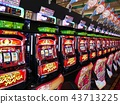 slot machine in a pachinko parlor, slot, slot machine 43713225
