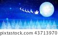 聖誕節雪冬天背景 43713970
