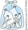 ขวดพลาสติกถังขยะ 43714081