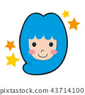 Illustration of the Virgo of the Twelve Constellation. A smiling girl character. 43714100