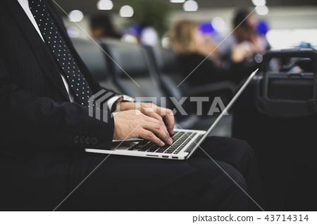 business man, laptop, using laptop 43714314