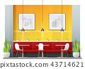 Interior scene of modern restaurant  43714621