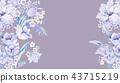 优雅的水彩玫瑰花插画 43715219