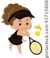 테니스 선수 여성 43715666