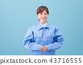 작업복을 입은 여성 43716555