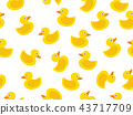 seamless pattern of yellow rubber duck 43717709