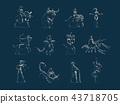 Zodiac signs. Vector illustration. 43718705