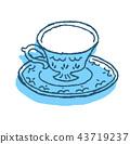 ถ้วยชา,พื้นหลังสีขาว,ภาชนะใส่อาหาร 43719237