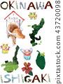 오키나와 이시가키 아이콘 컷 43720098