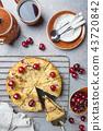 Homemade cherry crumble pie 43720842