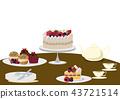 蛋糕 糖果 甜食 43721514
