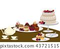 蛋糕 糖果 甜食 43721515