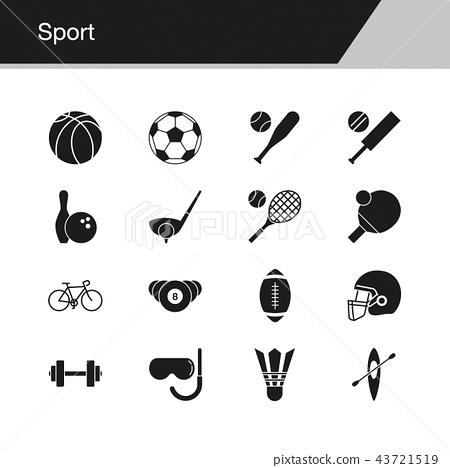 Sport icons.  43721519