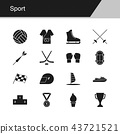 Sport icons.  43721521