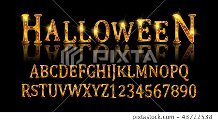 Vintage Halloween Original Typeface. 43722538